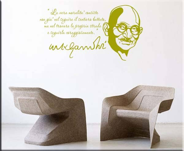 adesivi murali frase Mahatma Gandhi