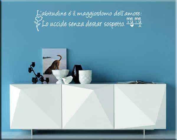 adesivi murali frase amore abitudine