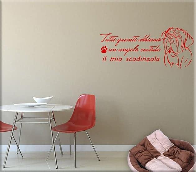 adesivi murali frase cane
