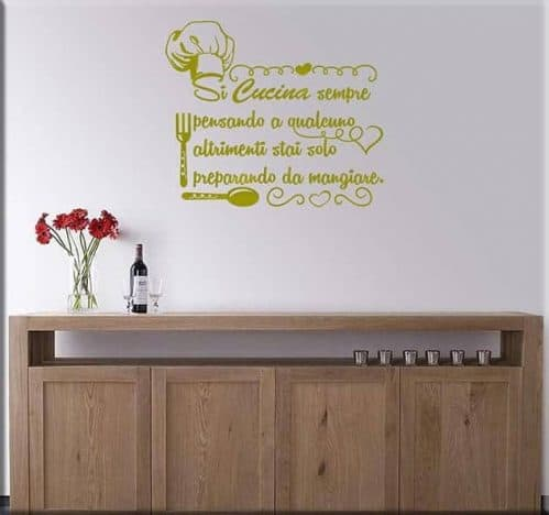 adesivi murali frase cucina