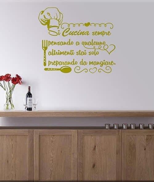 Adesivi murali cucina decorazioni murali by arredi murali - Decorazioni murali per cucina ...