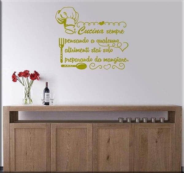 Decorazioni adesive murali frase cucina - Adesivi murali per cucina ...