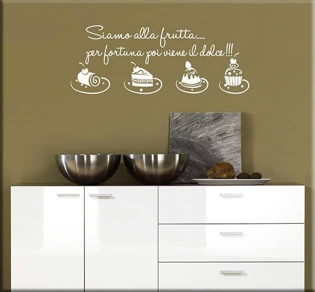 adesivi murali frase cucina dolci