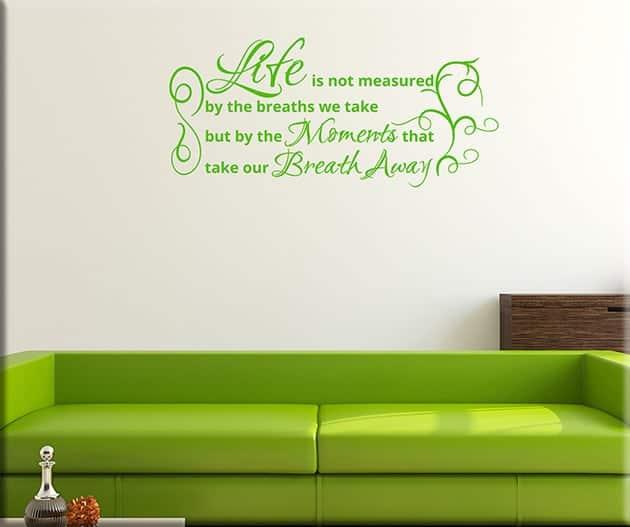 adesivi murali frase life