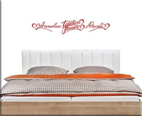 adesivi murali personalizzati camera da letto
