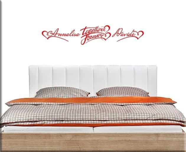 Wall stickers personalizzati per camera da letto - Adesivi parete camera da letto ...