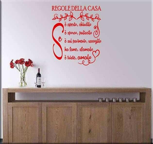 adesivi murali regole della casa
