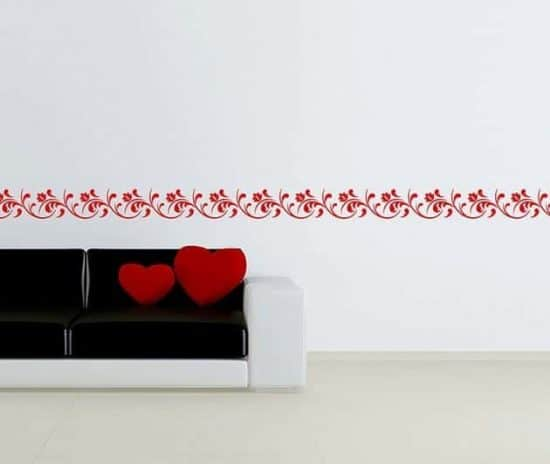 decorazione adesiva da parete greca floreale