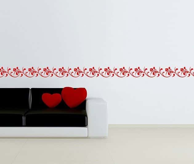 wall stickers greca adesiva floreale decorazione