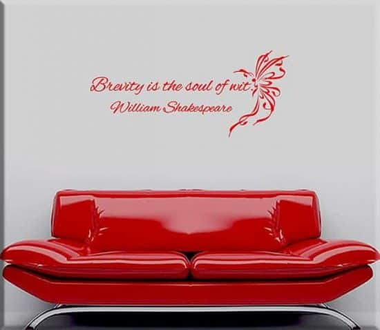 decorazioni adesive murali frase William Shakespeare