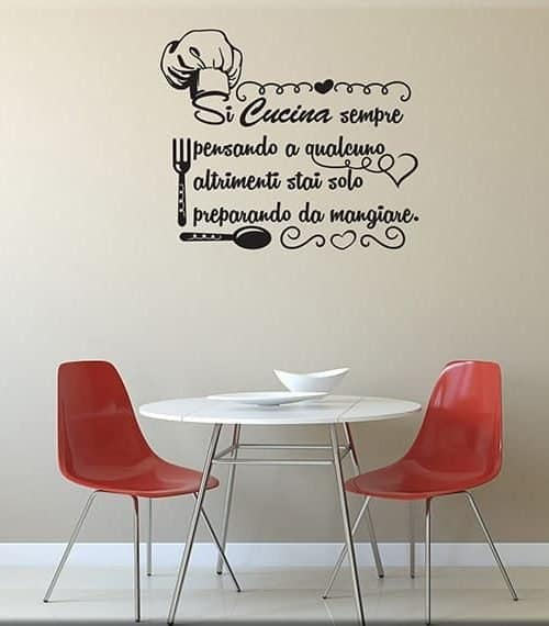 Adesivi murali frasi aforismi un nuovo modo per arredare for Scritte adesive cucina
