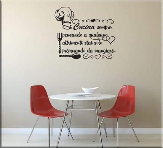decorazioni adesive murali frase cucina