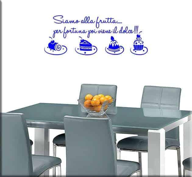 Adesivi da parete frase cucina dolci for Scritte adesive cucina