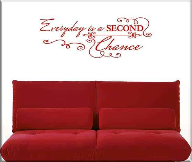 decorazioni adesive murali frase everyday