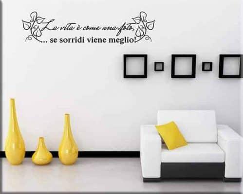 decorazioni adesive murali frase foto