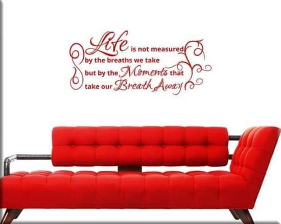 decorazioni adesive murali frase life
