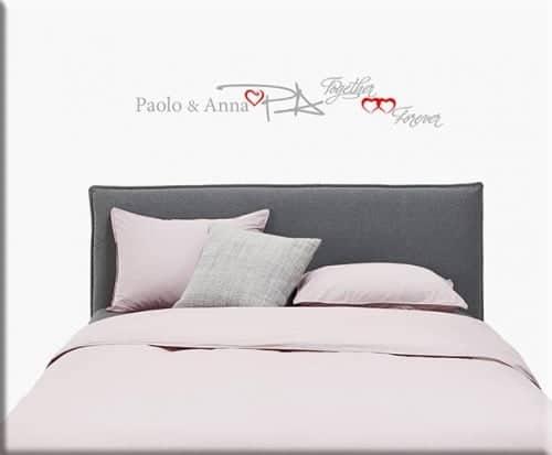 decorazioni adesive murali personalizzate letto