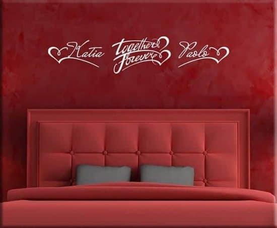 decorazioni adesive murali personalizzati camera da letto