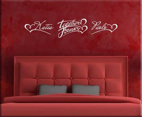 Wall stickers personalizzati per camera da letto - Decorazioni murali per camere da letto ...