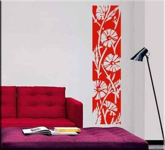 pannello adesivo murale floreale