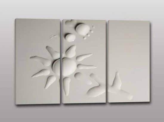 quadri moderni arte digitale acqua