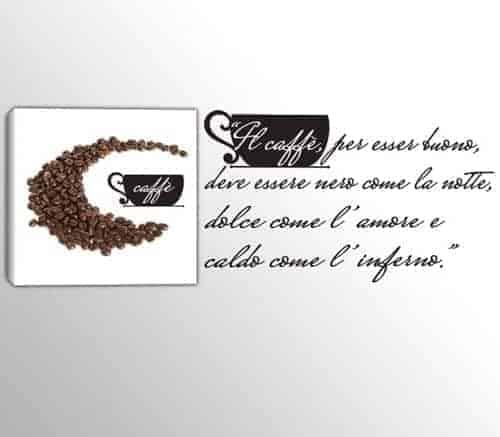 quadro caffè adesivi murali frase bar