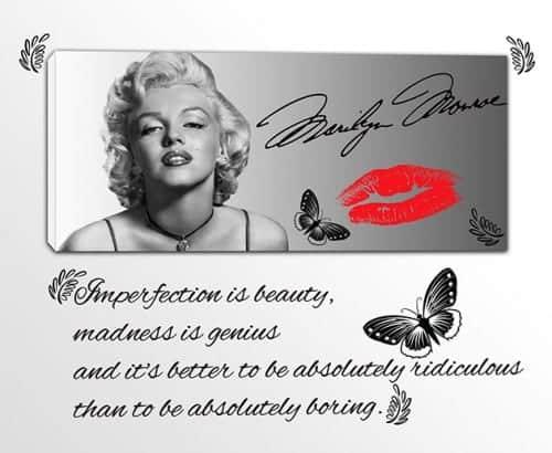 quadro moderno Marilyn Monroe adesivi murali citazione