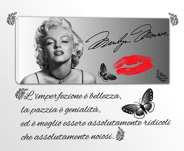 quadro moderno Marilyn Monroe adesivi murali frase