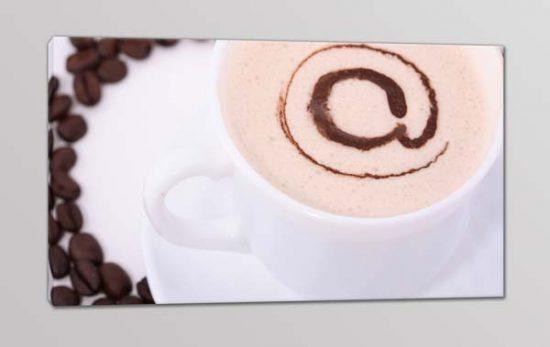 quadro moderno chiocciola caffè bar