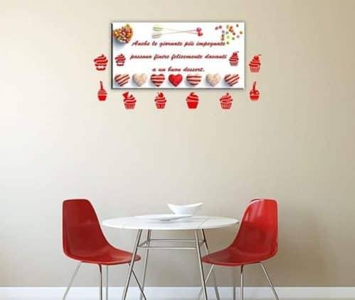 quadro moderno e adesivi murali dolci