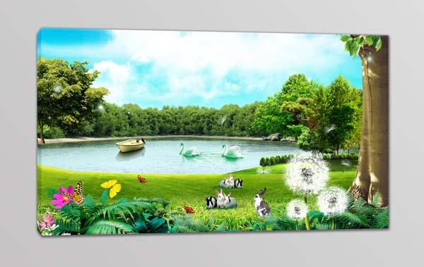 quadro moderno paesaggio natura