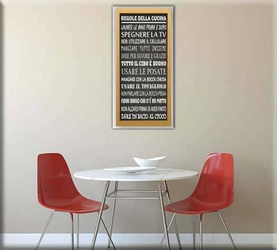 quadro moderno regole della cucina