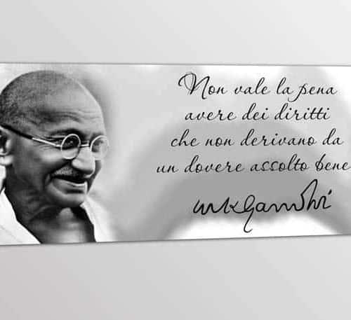 quadro moderno stampa frase Gandhi