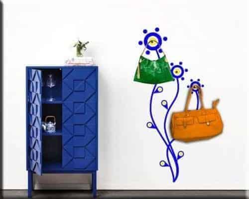 wall stickers appendiabiti moderno fiori