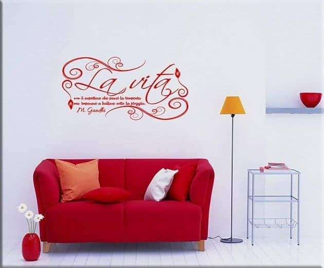 wall stickers frase gandhi
