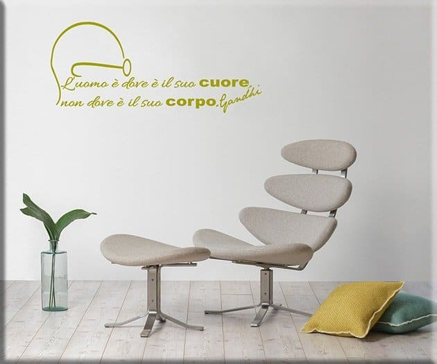 wall stickers frase Gandhi arredo