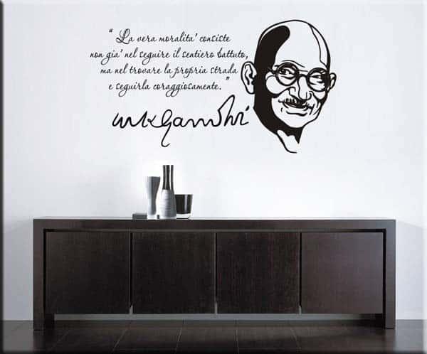wall stickers frase Mahatma Gandhi