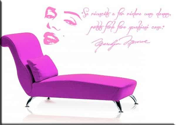 wall stickers frase Marilyn Monroe