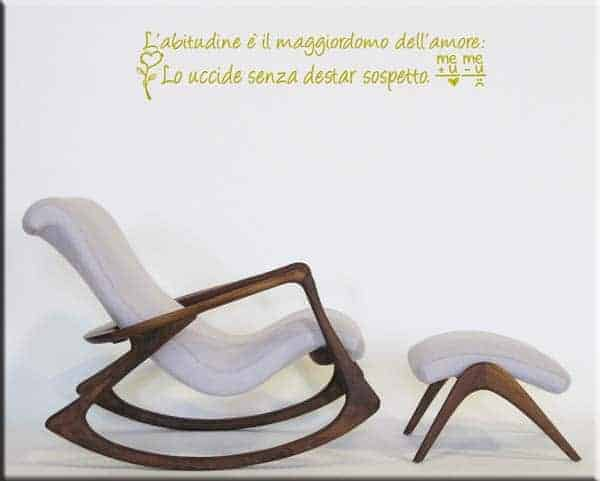 wall stickers frase amore abitudine