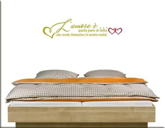wall stickers frase amore letto