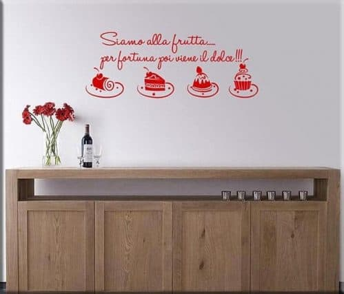 wall stickers frase cucina dolci