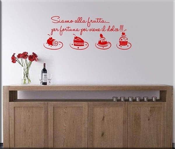 Wall stickers frase cucina dolci - Adesivi da parete per cucina ...
