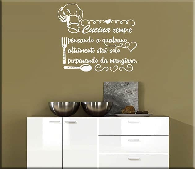wall stickers frase cucina