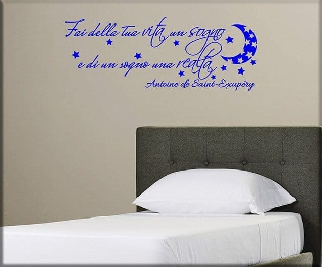 wall stickers frase letto
