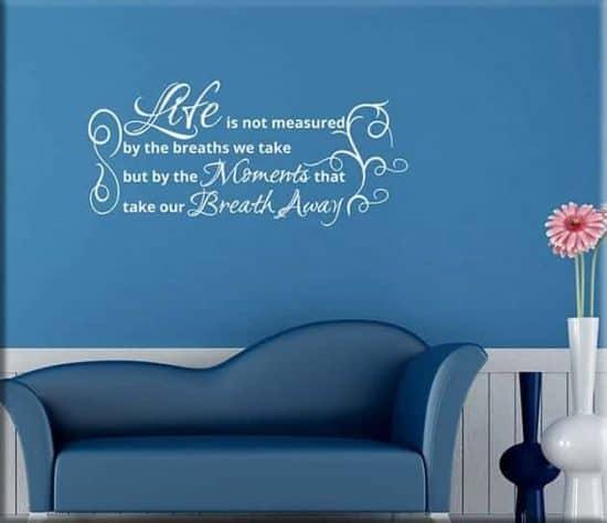 wall stickers frase life decorazione