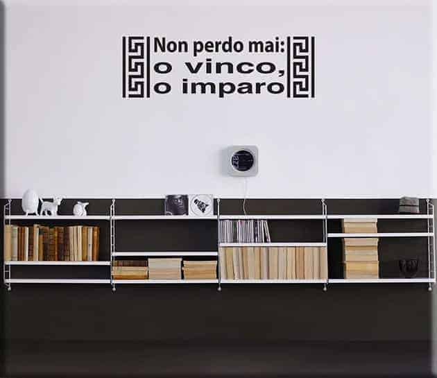 wall stickers frase vinco imparo