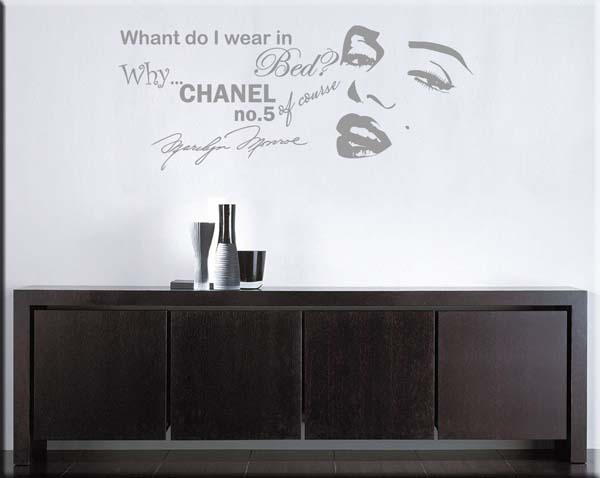 wall stickers frasi Marilyn Monroe