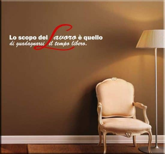 wall stickers frasi lavoro