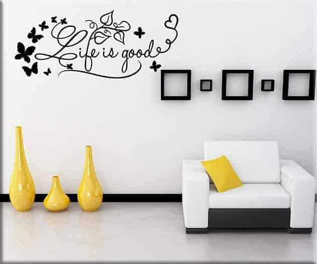 wall stickers life is good