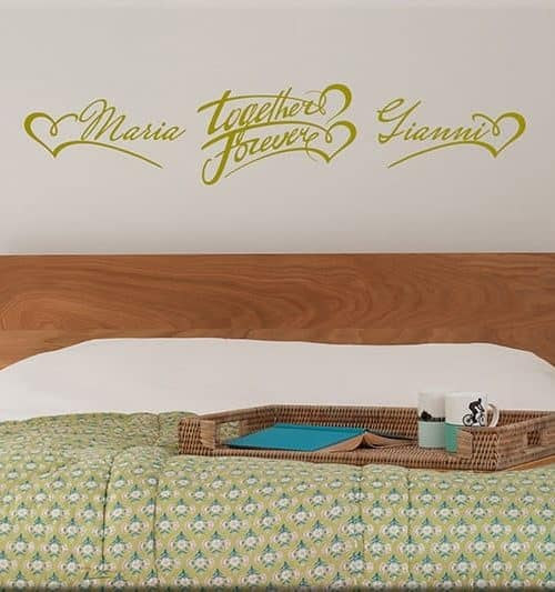 wall stickers personalizzati camera da letto